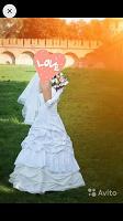 Отдается в дар Свадебное платье 46 размера