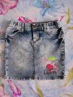 Отдается в дар Джинсовая юбка для девочки на 6-8 лет