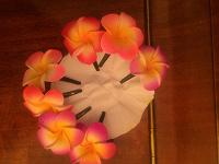 Отдается в дар Цветочки заколки с Бали