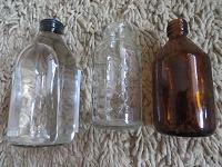 Отдается в дар Мерные бутылки стеклянные