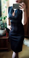 Отдается в дар Черное платье-футляр, размер 42-44