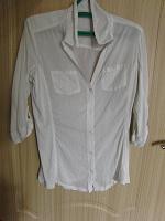 Отдается в дар Женская х/б рубашка прозрачная белая