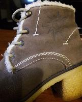 Отдается в дар ботинки зимние натур.замша (36р)