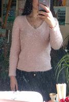 Отдается в дар Свитер розовый пушистый