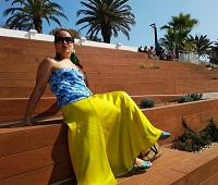 Отдается в дар Длинная жёлтая атласная юбка ZARA