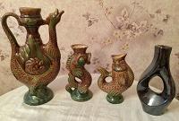 Отдается в дар Кувшины глиняные декоративные, ваза, СССР