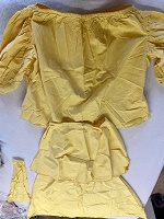 Отдается в дар Жёлтая х/б ткань