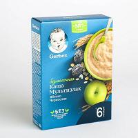 Отдается в дар Каша Gerber безмолочная мультизлаковая с яблоком и черносливом
