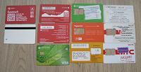 Отдается в дар Карты пластиковые, билеты на проезд