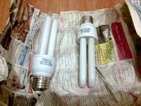 Отдается в дар Лампочки энергосберегающие