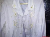 Отдается в дар Блуза женская. Белая. C вышивкой. Разм. 48-50.