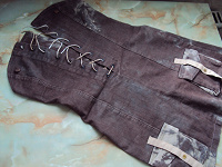 Отдается в дар Коричневый джинсовый сарафан