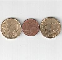 Отдается в дар Евро центы.