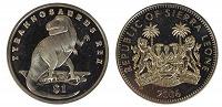 Отдается в дар Монета- 1 доллар Сьерра-Леоне «Тираннозавр Рекс»