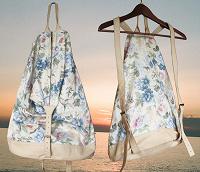 Отдается в дар Летний женский рюкзак. Текстиль + кожа