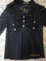 Отдается в дар Блузка черная.