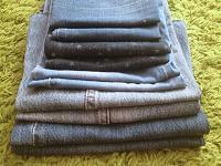 Отдается в дар Обрезки джинсы для ХМ