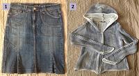Отдается в дар Юбка джинсовая и кофточка OGGI р.44