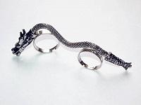 Отдается в дар Двойное кольцо «Дракон».