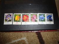 Отдается в дар марки цветы, гашенные.