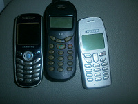 Отдается в дар старые телефончики
