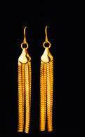 Отдается в дар Новые серьги- цвет египетского 24 каратного золота!