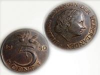 Отдается в дар 5 центов Нидерланды