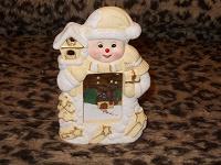 Отдается в дар Подсвечник снеговичок.