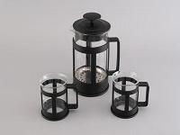 Отдается в дар Набор стеклянный чайник и 2 чашки Gipfel