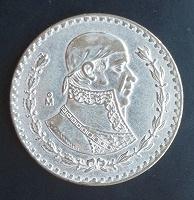 Отдается в дар Мексика. 1 песо 1964 года.