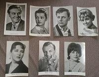 Отдается в дар открытки с актерами 1961- 1965