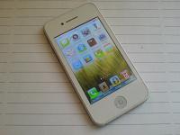 Отдается в дар копия iPhone, 2 sim-карты, белый, треснутый тачскрин