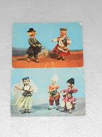 Отдается в дар Две открытки с куклами