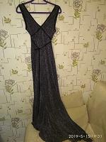 Отдается в дар Платье вечернее, блестящий трикотаж(46/48);