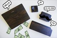 Отдается в дар Настольный органайзер из дерева