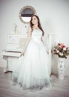 Отдается в дар Свадебное платье с цветами