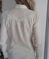 Отдается в дар Рубашка «из бабушкиного сундучка» в цветочек xS