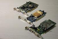 Отдается в дар 3 видеокарты PCI-E