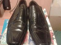 Отдается в дар Туфли черные кожаные