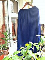 Отдается в дар юбка в пол, синяя-синяя 42-46