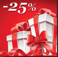 Отдается в дар накопительная скидка 25% на весь товар.