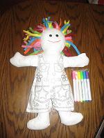 Отдается в дар Кукла для раскрашивания. Новая.