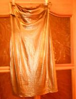 Отдается в дар Платье золотистое, размер М