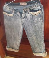 Отдается в дар Бриджи джинсовые