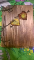 Отдается в дар Блокнот с деревянной обложкой