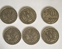 Отдается в дар Монеты 20 тенге (Казахстан)