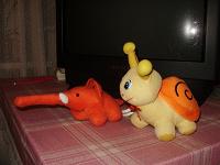 Отдается в дар Дарю мягкие игрушки — слоник и улитка. Мои дети ими уже не играют и дарят их другим малышам.