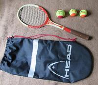 Отдается в дар Детская теннисная ракетка СССР + чехол + мячи