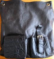 сумка женская городская чёрная, клатч