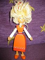 Отдается в дар кукла деревянная